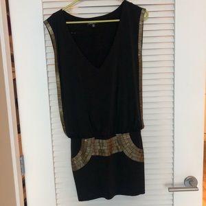 Bebe stretch gold tiled mini dress size XXS